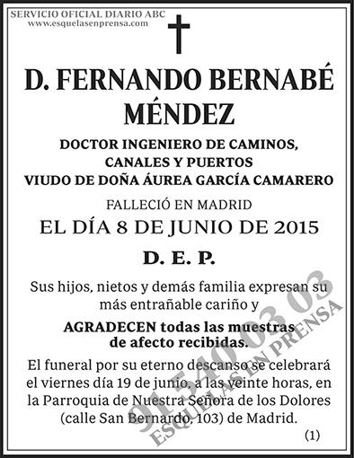 Fernando Bernabé Méndez